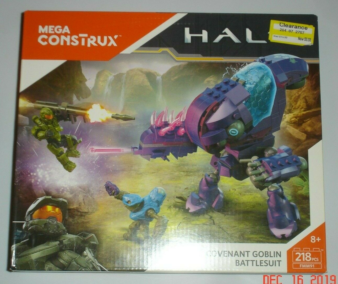 Mega Construx Halo Covenant Goblin Battlesuit 218pcs New Sealed 2017