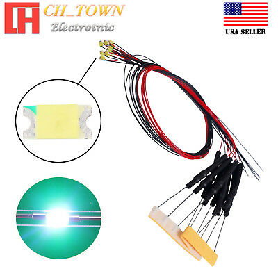 10pcs 1206 3216 RGB Light SMD Pre-Wired LED Diodes Soldered 20cm Length Lamp