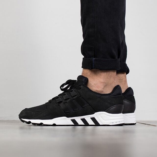 new concept 0aa37 921d1 Adidas EQT Support RF Refine Mens Running Shoes Black White Leather Mesh  BB1312