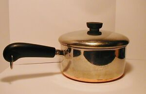Vintage Revere Ware 2 Quart Pan With Lid Copper Bottom