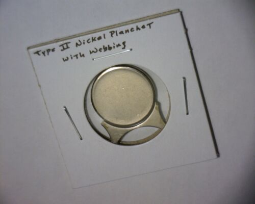 JEFFERSON NICKEL TYPE 2 PLANCHET WITH COIN WEBBING INCLUDED/<RARE/>US MINT ERROR