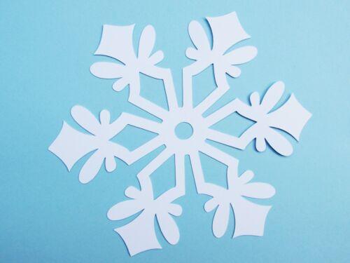 25 pc.//set Frozen Party Snowflake paper die cuts white color