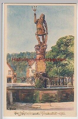 (96016) Künstler Ak K. Biese, Freudenstadt, Neptunbrunnen Seien Sie Freundlich Im Gebrauch