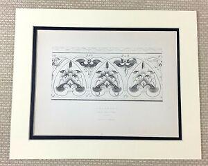 1842 Antico Stampa Intagliato Ornamentale Architettura Galilea Durham Cathedral