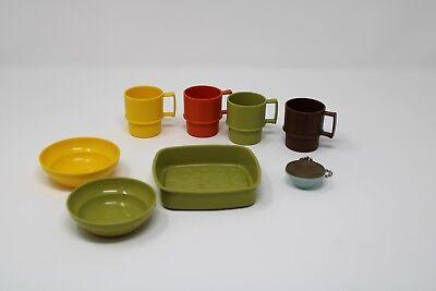 Toy Tupperware Toys Dishes Kitchen Play Set 8pcs Ebay