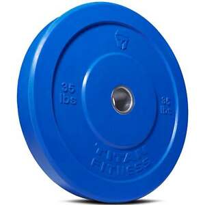 Titan-Fitness-35-lb-Olympic-Bumper-Plate-Blue-Benchpress-Strength-Training-Power