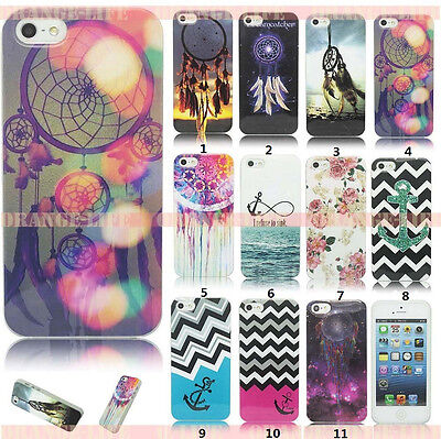 For iphone 4 4S 5 5S Dream Painted TPU Soft Case Silicone Skin Back Cover Shell