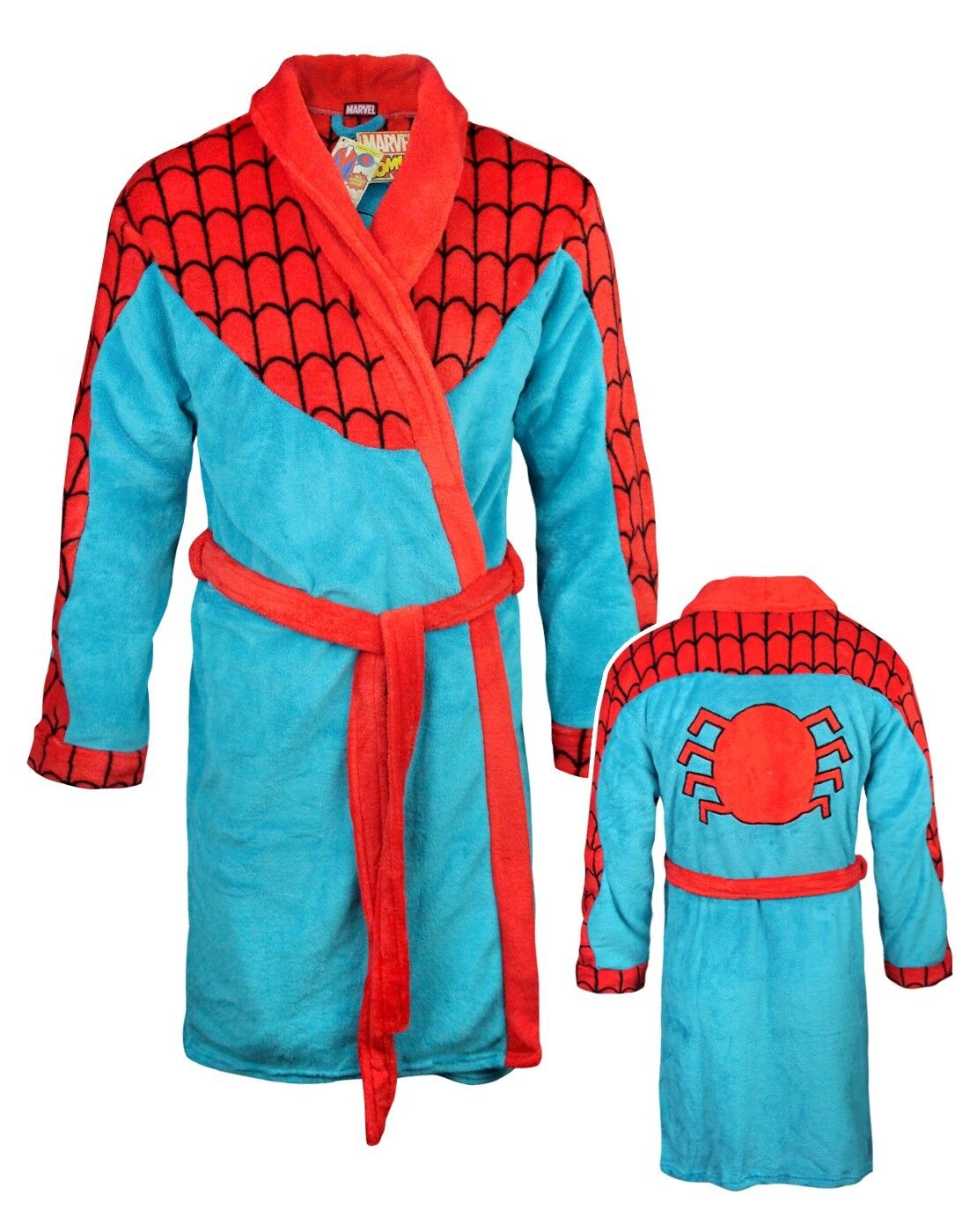 Männer - offizielle marvel spiderman morgenrock - erstbezug großes geschenk bademantel