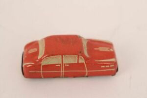 Penny-Toy-Juguete-de-Hojalata-Coche-Ee-uu-Zone-Alemania-Antiguo-Colector-Tin-Rot