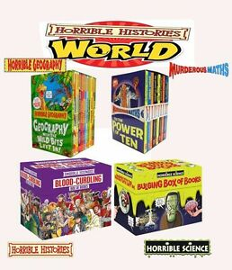 Horrible-Histories-Science-Maths-Geography-Collection-Books-Box-Set-Gift-Pack