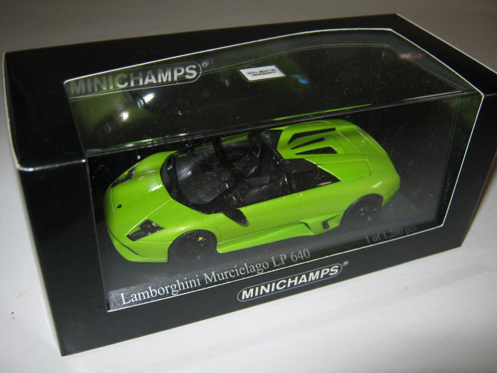 1 43 LAMBORGHINI MURCIELAGO lp640 vert 2007 L. E. MINICHAMPS 400103930 neuf dans sa boîte New
