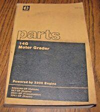 Caterpillar Cat 14g Motor Road Grader Parts Book Catalog Manual 3306 Engine 1982