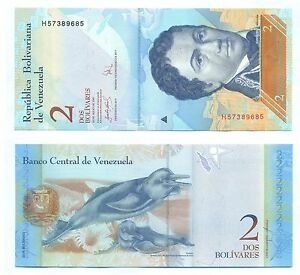 VENEZUELA-NOTE-2-BOLIVARES-24-05-2007-SERIAL-H-P-88b-UNC