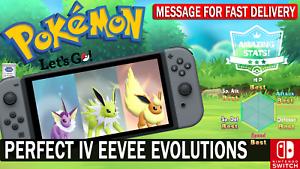 Pokemon-Let-039-s-GO-Shiny-Vaporeon-Jolteon-amp-Flareon-6-IV-eevee-evolutions