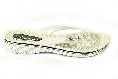 mujer flor Zapatos Sin Talón Sandalias Planas De Verano Chanclas playa Gel Talla