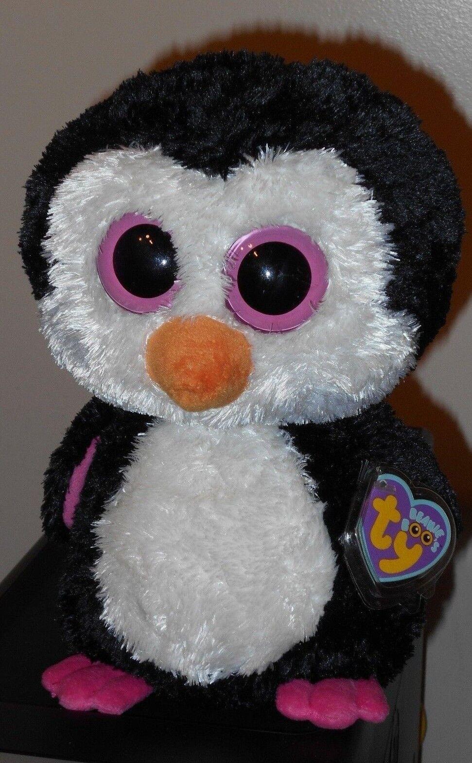 Ty Beanie Boos - PADDLES the Penguin (9 Inch  Medium Size Buddy Plush) MWMT