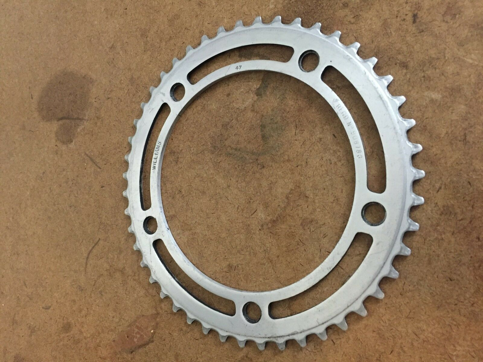 Vintage Williams '50s 47t alloy chainring 151 BCD  Raleigh Clubman Dunelt BSA