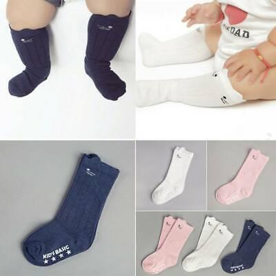 Toddlers Baby Cute Cat Ear Knee High Socks Cotton Hosiery Xmas Stocking 2-4Y