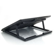 """LED Foldable 12""""-17"""" Laptop PC USB Powerful 6 Fan Cooling Cooler Stand Pad"""