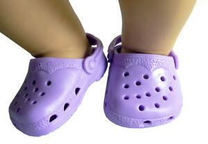 00913383133d22 Light Purple Kroc Krocs Clog Summer Shoes For Bitty Baby   18 ...