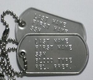 Image is loading US-ARMY-AUTHENTIC-PERSONALIZED-DOG-TAGS-MUST-SEE- 3f5cfa13b29