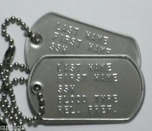US ARMY AUTHENTIC PERSONALIZED DOG TAGS. MUST SEE! FREE ...