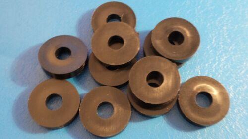 Haute Qualité M8 x 25 x 5 mm en Nylon Noir Nylon Spacer//Rondelle quantité = 5