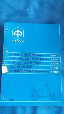 Catalogo Parti Di Ricambio Piaggio Free 578461 Spare Parts 1995 1996 1997 1998 Luminoso E Traslucido Nell'Apparenza