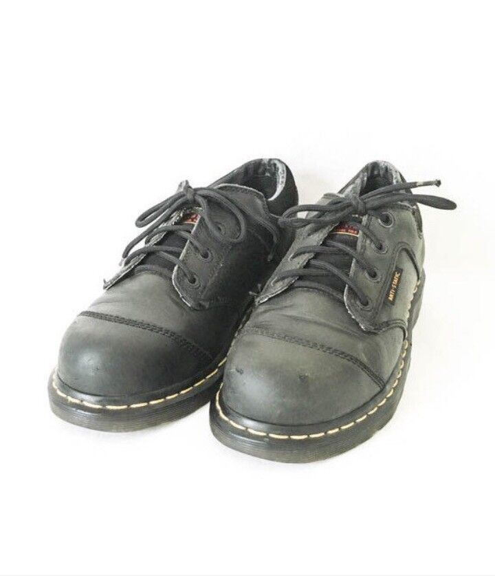 WOMENS LEATHER DR. MARTENS ANKLE BOOTS SHOES SZ 8 M DOC MARTENS BLACK WORK BOOTS