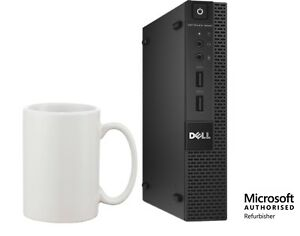 Dell 9020 Micro Desktop i3-4160T 3.1GHz, 8GB, 256GB SSD, Windows 10 Pro WiFi