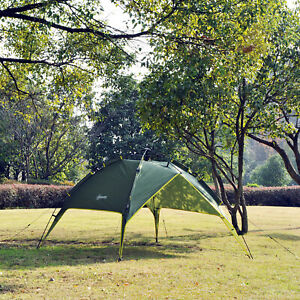 3-4 Person Double Layer Family Camping Hiking Instant Tent Auto