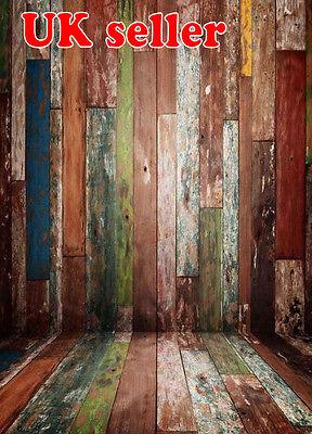 100% De Calidad Venta Marrón Colorido Madera Pared + Piso Telón De Fondo De Vinilo Foto Prop 5x7ft 150x220cm Precio Moderado