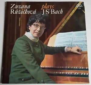 Zuzanna Ruzickova plays Johann Sebastian Bach Supraphon Stereo 1 11 0750