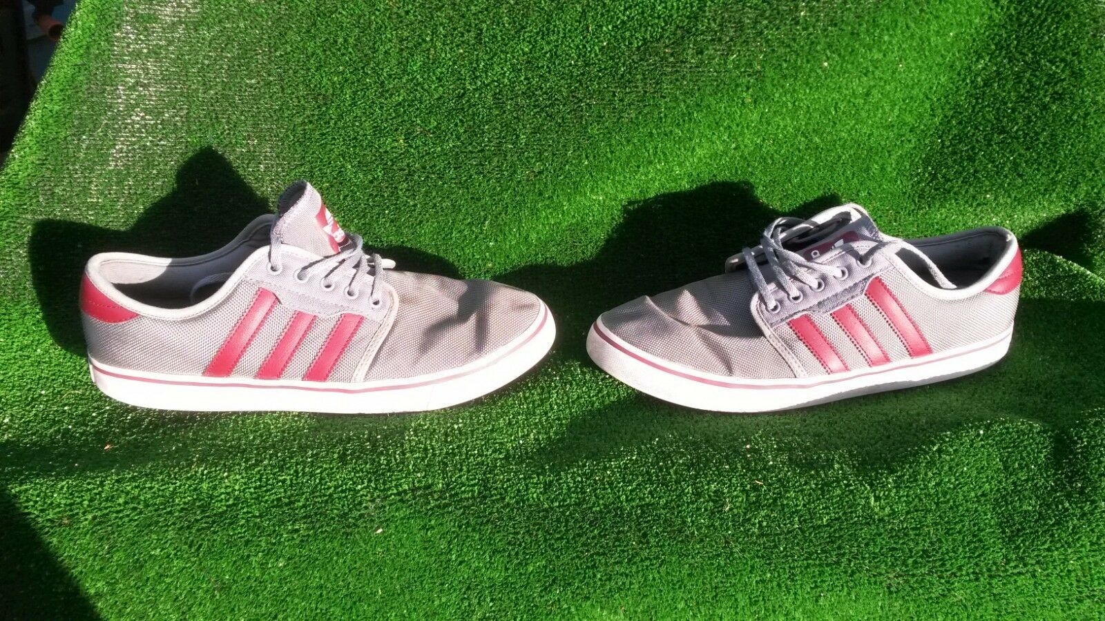 Adidas Seeley Men's Grey/Red Sports Shoes/Trainers. Comfortable New shoes for men and women, limited time discount