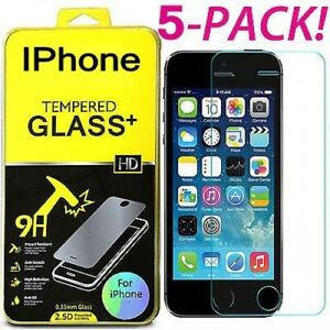 6X-Tempered-Glass-Protective-Screen-Protector-Film-for-iPhone-10-X-6S-7-8-lot