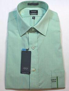 New-Men-Arrow-Sprout-Green-Color-Dress-Shirt-Classic-Fit-MSRP-45
