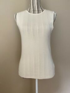 RALPH-LAUREN-Black-Label-Sleeveless-Cashmere-Silk-Beige-Tank-sz-M-NWOT