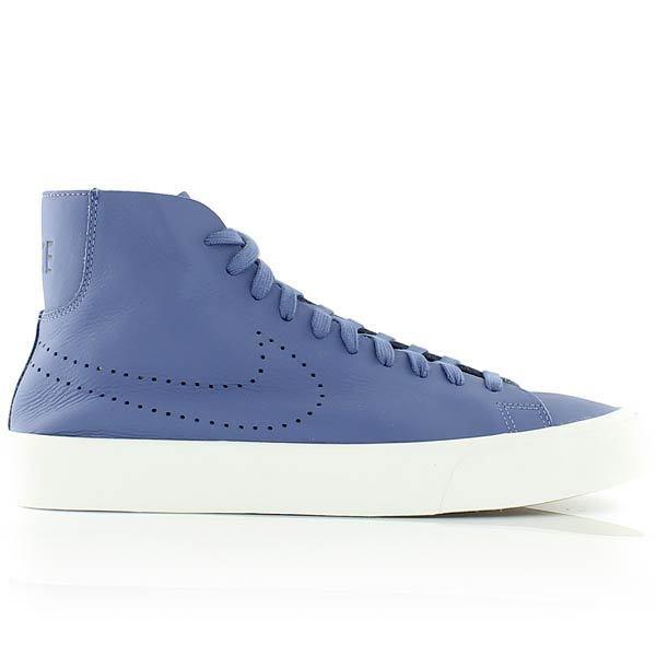 Nike Blazer Studio Italian Leather Mid 880870-400 Blue Moon blanc Sz 9.5 sb New