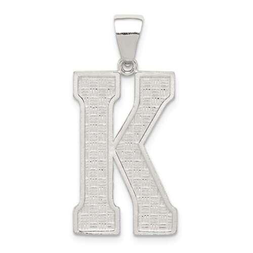 Sterling Silver Initial K Pendant QC2766K
