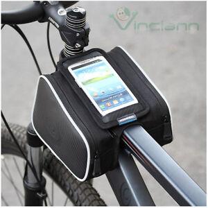 Borsa 3 scomparti per bicicletta porta cellulare per Nokia Lumia 710 720 H10