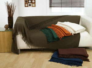 Image Is Loading Waffle Throw Over Sofa Bedspread