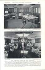1897 Captain's Cabin Surprise Theseus Hms Cruiser Aeolus Nagasaki Harbour