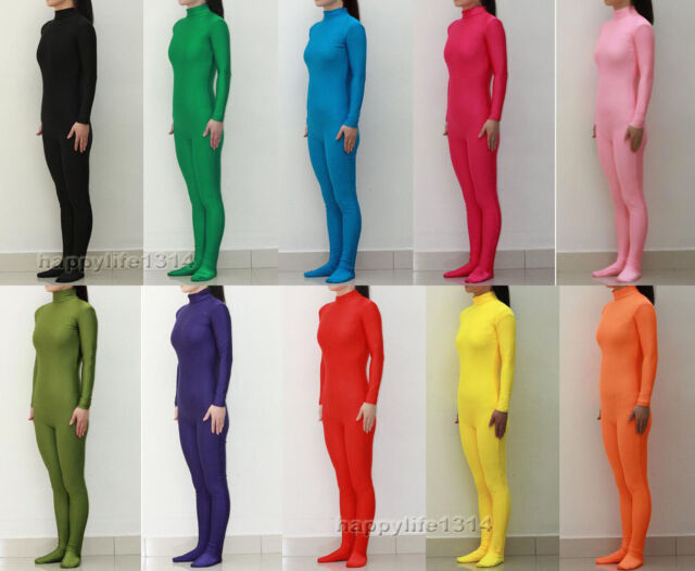 Lycra Spandex Zentai costume party Bodysuit Catsuit Unitard No Hood & Hands