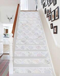 3d Popular Color Grid 1 Tile Marble Stair Riser Decoration Mural