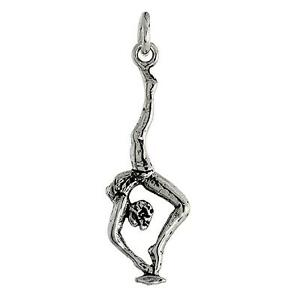 Sterling Silver Gymnast Pendant