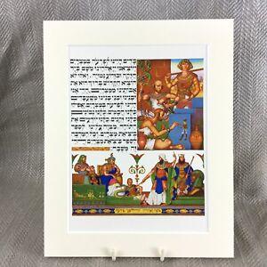 1950-Ebraico-Stampa-Judaica-Ebraico-Slaves-Egitto-Pasqua-Arthur-Szyk-Haggadah