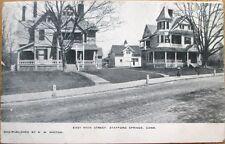 1909 Stafford Springs, CT Postcard: East Main Street - Connecticut Conn