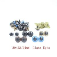 20pcs Big Giant 20/22/24mm Plastic Safety Eyes For Teddy Bear Doll Puppet Craft