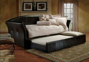 ** BRAND NEW ** Black Pull-Out Trundle PU Day Bed ** FREE SHIPPING ** Hamilton Ontario Preview