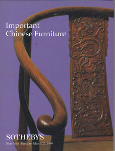 Sotheby S Important Chinese Furniture Auction Catalog 1999 Ebay